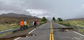 Vialidad Nacional trabaja para restablecer la circulación de la Ruta 51 a la altura de Las Cuevas