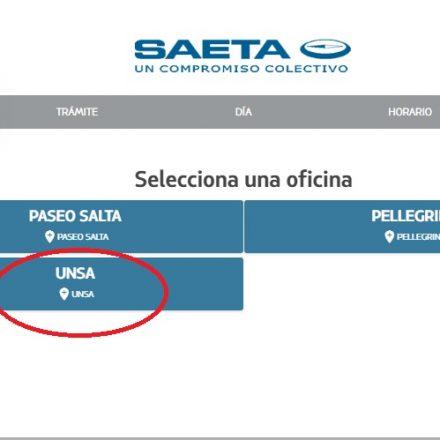 Ya se pueden gestionar turnos online para la sede de SAETA en la UNSa