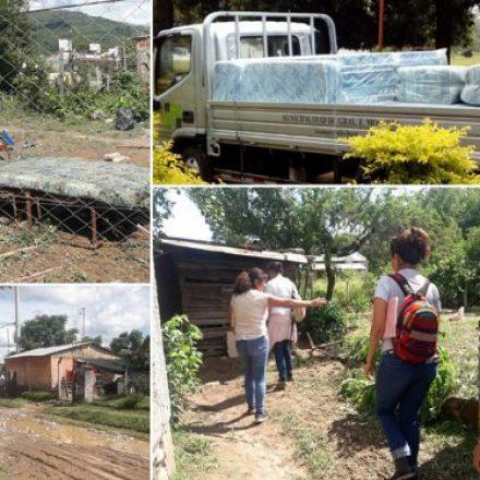 Asistencia a familias afectadas por el temporal de La Caldera, Pichanal y Mosconi