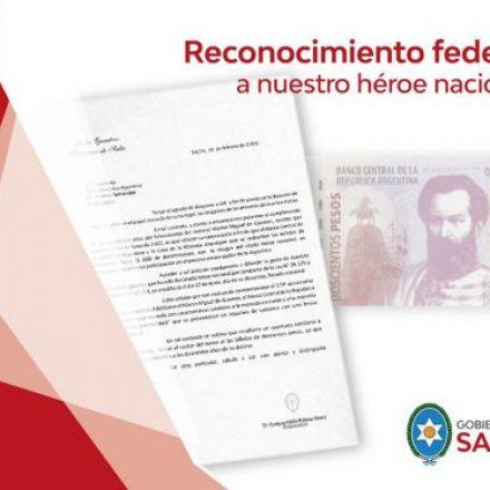 El Gobernador formalizó el pedido para que se incluya la imagen de Güemes en la moneda de curso legal