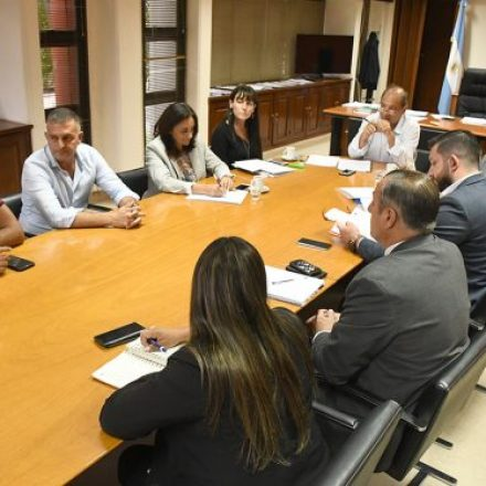 Funcionarios provinciales con legisladores del departamento Orán