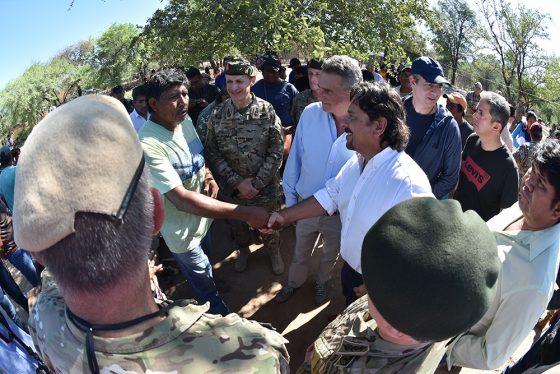 El gobernador Sáenz recorrió el Chaco Salteño y verificó el funcionamiento del operativo de asistencia sociosanitaria