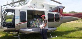El Gobierno asistió por puente aéreo a afectados de Rivadavia Banda Norte
