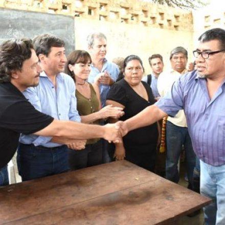 """Sáenz en Alto La Sierra: """"Trabajamos para revertir esta realidad que golpea a las comunidades originarias hace décadas"""""""