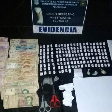 Intenso trabajo contra el narcotráfico con decomiso y detenciones
