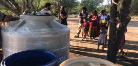 Comunidades en emergencia recibieron tanques para agua segura