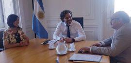 Leavy y Giménez se reunieron con Santiago Cafiero