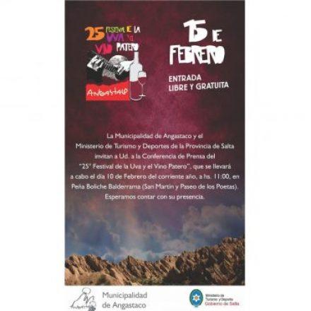 Se lanzará la 25º edición del Festival de la Uva y el Vino Patero