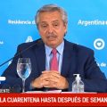 Alberto Fernandez: «Vamos a prolongar la cuarentena hasta que termine Semana Santa»