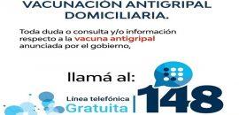 Campaña de vacunación antigripal: se habilitó la linea 148 para consultas
