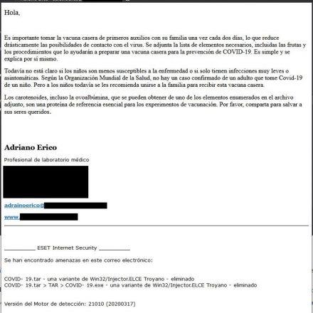 Crecen las campañas de software malicioso (malware) que intentan aprovechar el temor provocado por el COVID 19