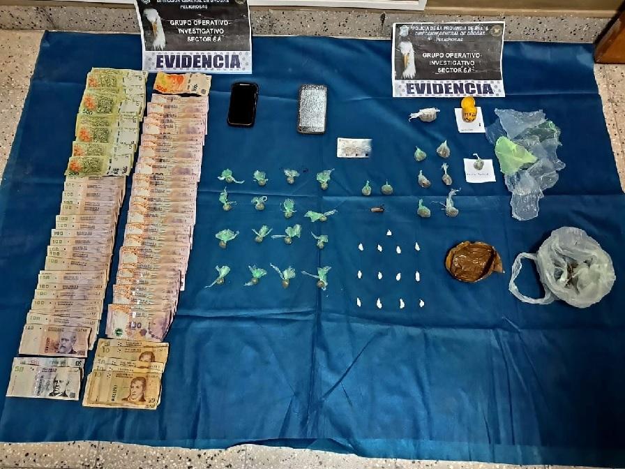 La Policía secuestró más de 300 dosis de droga