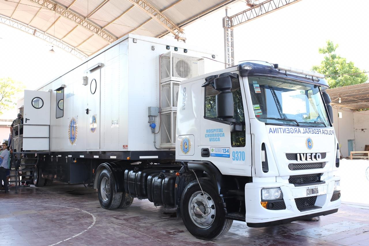 El Ministerio de Seguridad de la Nación entrega camiones sanitarios para las comunidades wichis