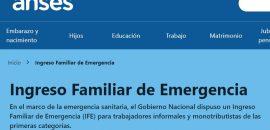 La ANSES estableció un cronograma de pre-inscripción para cobrar el Ingreso Familiar de Emergencia de 10.000 pesos