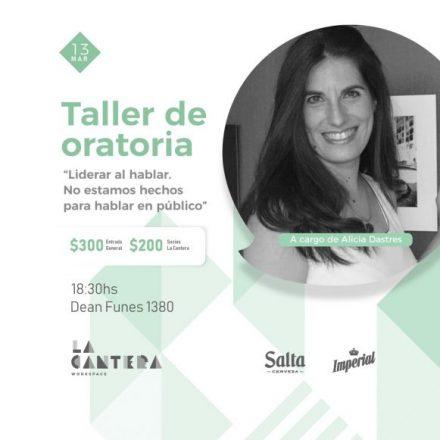 Marzo es de ellas en La Cantera: Taller de Oratoria, con Alicia Dastres