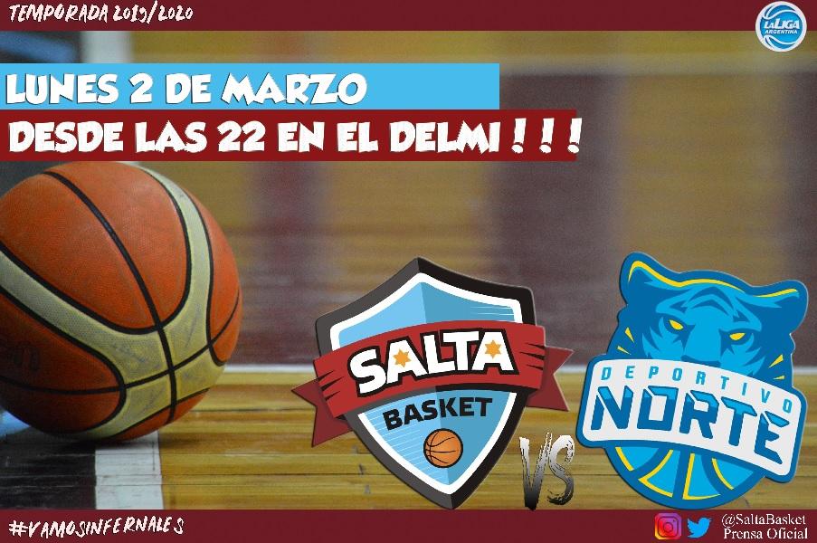 Esta noche Salta Basket recibe a uno de los líderes de la Conferencia Norte