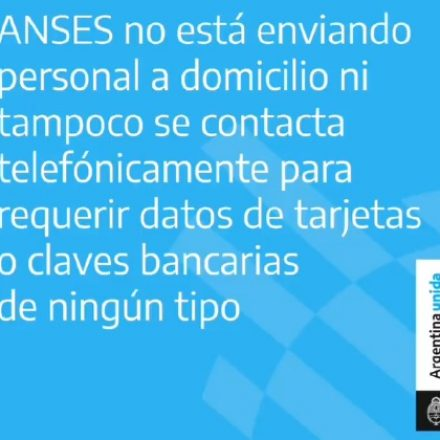 La ANSES no se comunica por teléfono para requerir datos