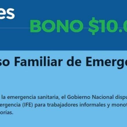 A partir de mañana sábado 11 los beneficiarios del Ingreso Familiar de Emergencia (IFE) podrán ingresar sus datos bancarios para cobrar