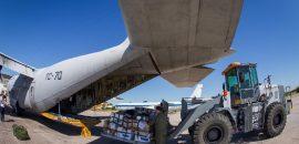 Covid-19: Un avión Hércules C-130 traslada respiradores y ecógrafos a las provincias