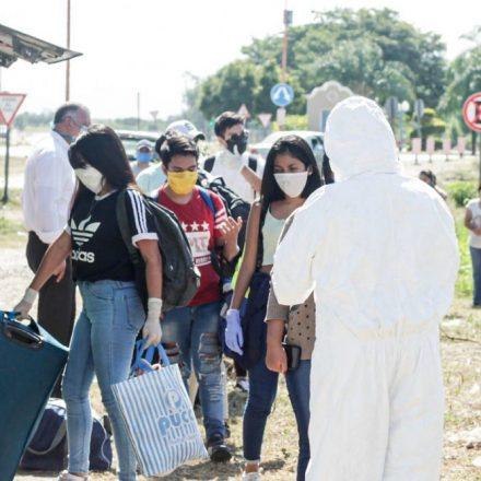 Operativo de regreso de estudiantes universitarios a la provincia