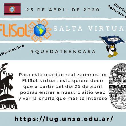 Festival Latinoamericano de Instalación de Software Libre (FLISoL) – Salta 2020 – Edición OnLine
