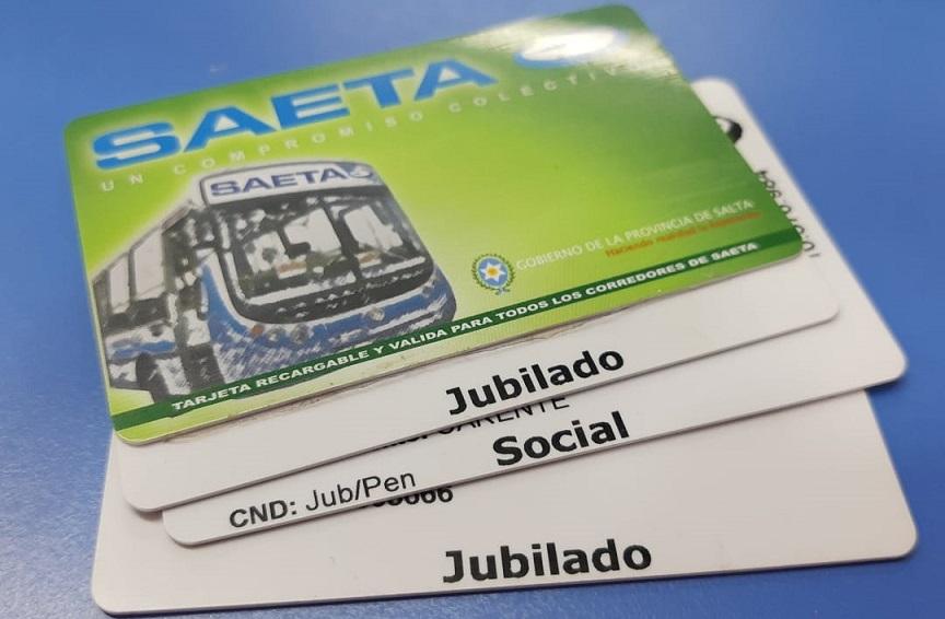 SAETA prorrogó el vencimiento de la tarjeta social y de jubilados