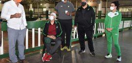 El Tribuno Básquetbol recibió la visita de funcionarios deportivos de capital y la provincia