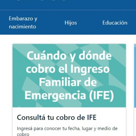 Calendario online con fecha y lugar de cobro del Ingreso Familiar de Emergencia