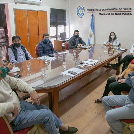 Ministra y Gremios de la Salud analizaron la situación actual de los trabajadores