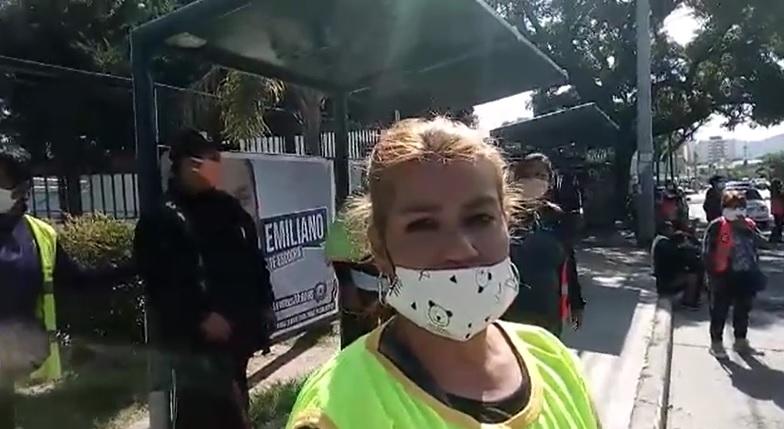 Permisionarios se manifestaron en las puertas del Centro Cívico Municipal Capitalino