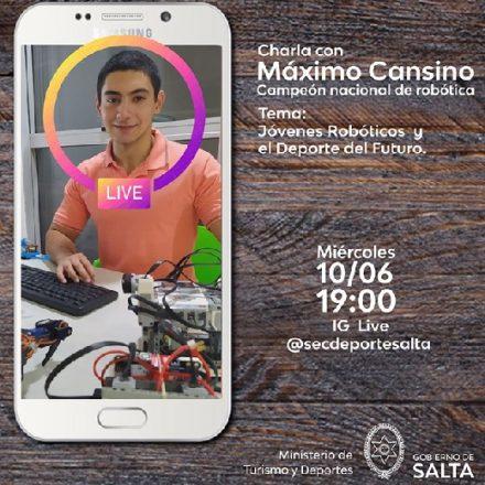 Por Instagram: charla virtual Jóvenes Robóticos y el Deporte del Futuro