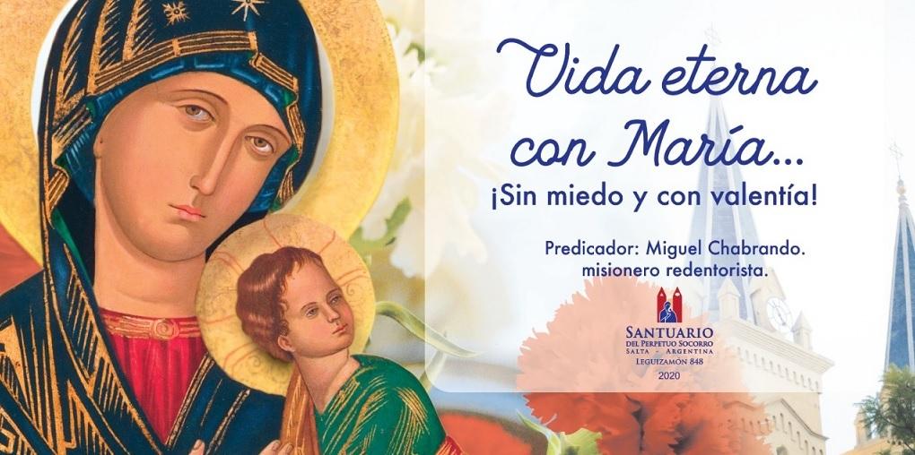 La procesión de la Virgen del Perpetuo Socorro se realizará con automóviles y un número reducido de fieles