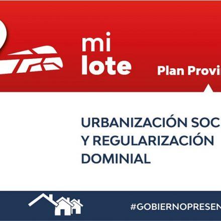 El 1 de agosto próximo comenzará la inscripción virtual de las personas interesadas en acceder al plan Mi Lote