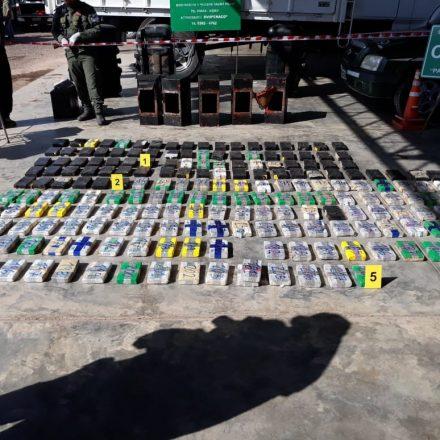 Gendarmería incautó más de 265 kilos de cocaína