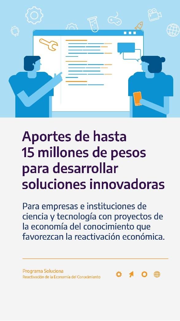 Programa de Aportes No Reembolsables para Soluciones Innovadoras de la Economía del Conocimiento