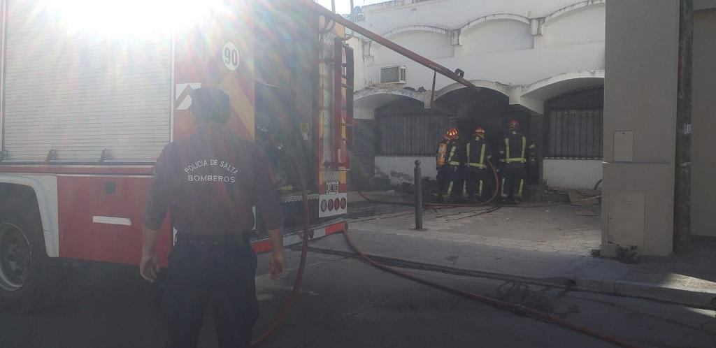 Capital: bomberos sofocaron un principio de incendio