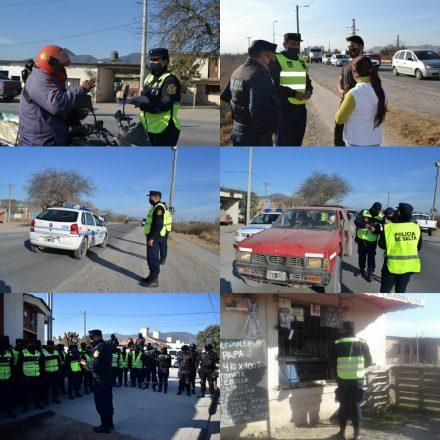 Intensos operativos en Cerrillos para concientizar sobre la emergencia sanitaria respecto al COVID-19
