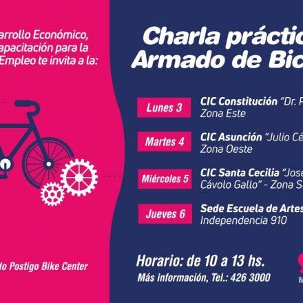 Brindarán charlas prácticas  gratuitas sobre armado de bicicletas en los CIC Capitalinos