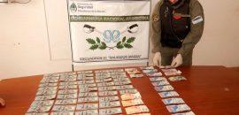 Gendarmería incauta dólares, pesos bolivianos y argentinos