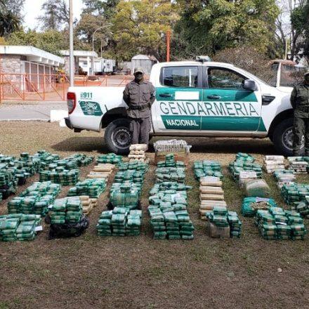 En dos procedimientos Gendarmería secuestró más de 780 kilos de hojas de coca