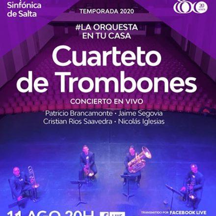 Por medio de Facebook: concierto de Trombones por integrantes de la Orquesta Sinfónica de Salta