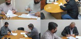 Firman convenios con los intendentes de San Lorenzo, Salvador Mazza, El Tala y Apolinario Saravia para pavimentación, cordón cuneta y otras obras