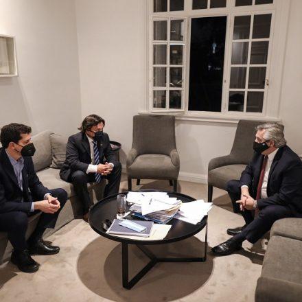 El Presidente y el Gobernador evaluaron la situación sanitaria y económica de la provincia por la pandemia