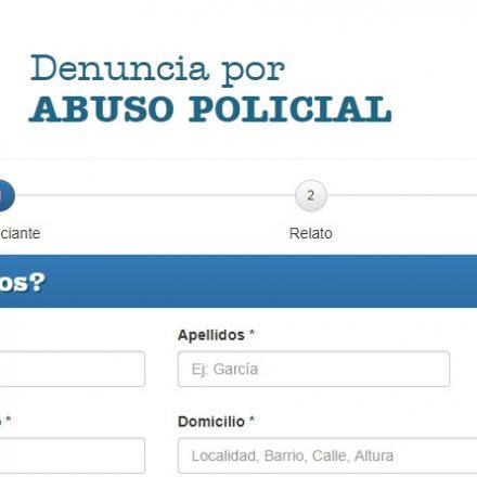 Desde hoy se pueden realizar denuncias de abusos policiales por medio de un sitio web