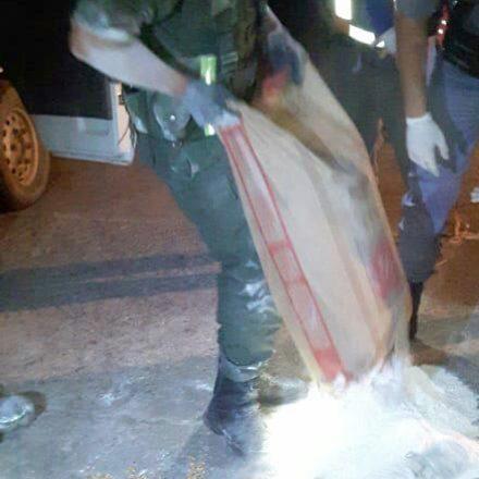 Incautan hojas de coca que eran trasladados en bolsas de harina