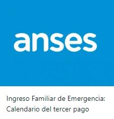 Cronograma del tercer pago del Ingreso Familiar de Emergencia (IFE)