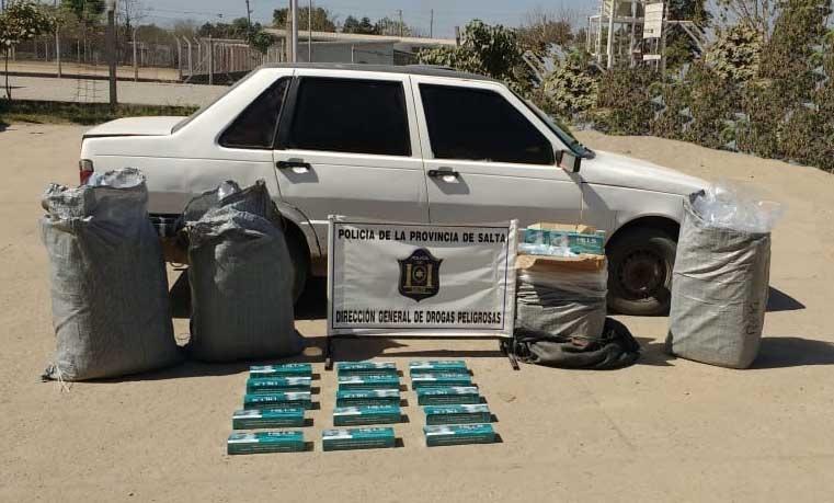 En Orán incautan cigarrillos y hojas de coca de contrabando