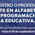 Para maestros y profesores de toda la provincia: capacitación sobre Alfabetización Digital, Programación y Robótica Educativa