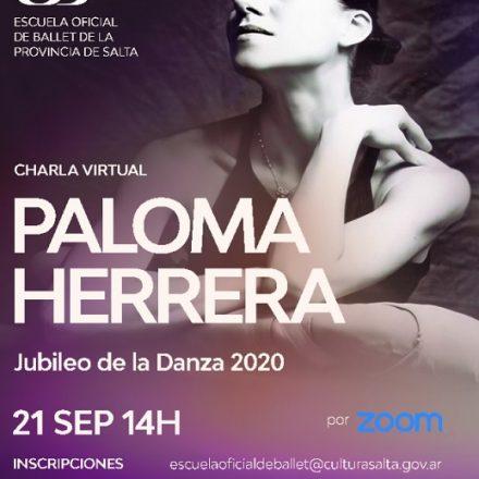 Charla virtual y gratuita con Paloma Herrera