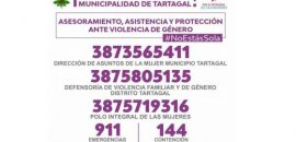 Difunden contactos de asistencia ante casos de violencia de género en Tartagal